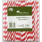 Paper Straws Red Stripe 205mm