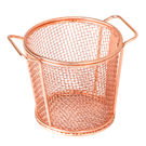 Brooklyn Round Service Basket w two handles Copper