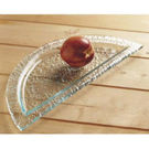 Half Moon Shape Plate With Rim 295x135mm Clear
