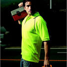 Hi Vis Breezeway Polo Fluro Yellow/Navy