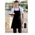 Poly Viscose Full Bib Apron Black