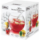 Selene 10pc Punch Bowl Set 12.8l