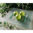 Square Plate Curved 360mm Clear