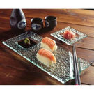 Sushi Plate With Chopstick Rest And Sauce Dish Clear
