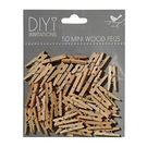 Mini Wood Pegs pack of 50