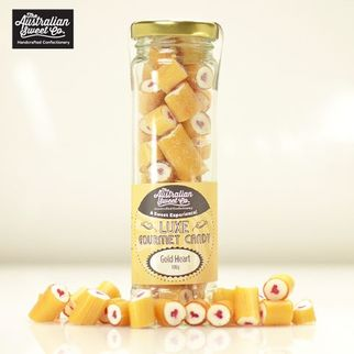 Picture of Gourmet Rock Candy Luxe Gold Heart 100g