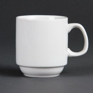 Picture of Olympia Whiteware Stacking Mugs 285ml