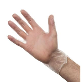 Picture of Powder Free Vinyl Gloves Clear Large (ctn 100)