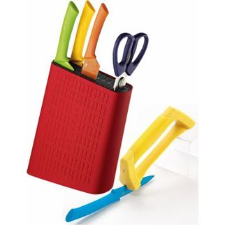 Picture of Scanpan Knife Block 6 pc with Sharpener