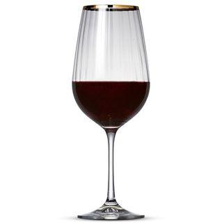 Picture of Salt&Pepper Romance Red Wine Gold Rim (set of 6)