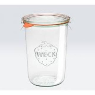Picture of Weck Glass Jar 743 850ml Complete w/lid seal clamps