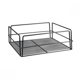 Picture of Glass Basket 355x355mm Pvc Black High