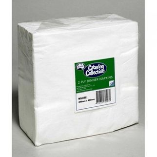 Picture of Dinner Napkin White 2ply 400x400 (ctn 1000)