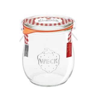 Picture of Weck Glass Jar 762 220ml Complete w/lid seal clamps