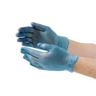 Picture of Powder Free Vinyl Blue Gloves XL (ctn 100)
