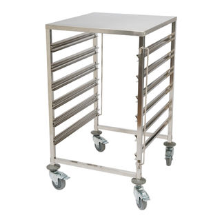 Picture of 6 tier Stainless Steel Steam Pan Trolley