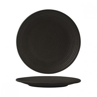 Picture of Zuma Charcoal Round Coupe Plate Ribbed 265mm