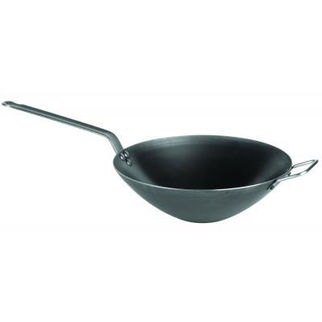 Picture of 2mm Force Blue Black Steel Wok 320mm
