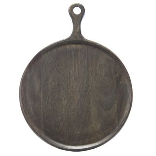 Picture of Mango Wood Serving Board Round w/HDL 300x400x15mm DARK