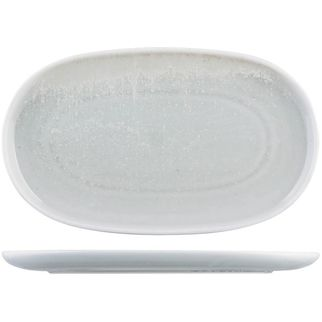 Picture of Moda Porcelain Willow Oval Coupe Plate 300x180mm