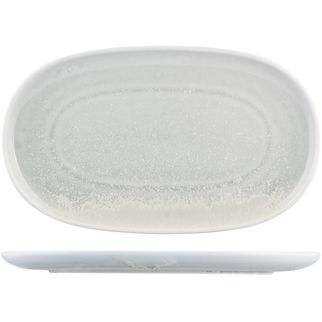 Picture of Moda Porcelain Willow Oval Coupe Plate 355x210mm