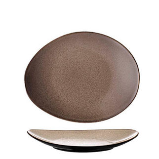 Picture of Oval Plate 225 x 185 Rustic Chestnut