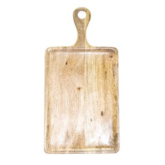 Picture of Mangowood Serving Board Rectangular with handle 520 x 440mm Natural