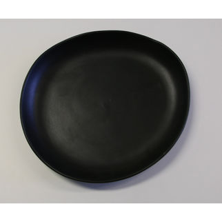Picture of Santo Alessi Organics Risotto Plate Satin Black 280 x 250mm