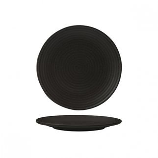 Picture of Zuma Charcoal Round Couple Plate Ribbed 210mm