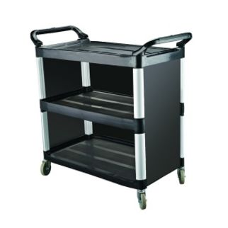 Picture of Cater Rax Black Plastic Utility Trolley