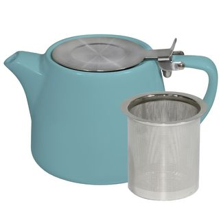 Picture of Brew Maya Blue Stackable Teapot 500ml with SS Infuser and Lid