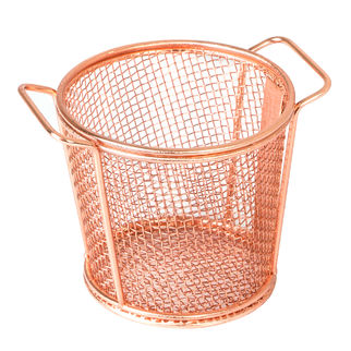 Picture of Brooklyn Round Service Basket w two handles Copper