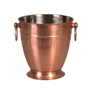 Picture of Brookyln Ribbed Copper Champagne Bucket 220 x 230mm