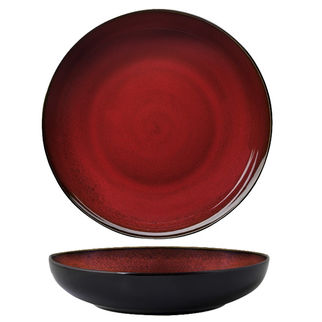 Picture of Luzerne Round Bowl Plate 260mm Crimson