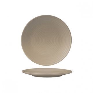 Picture of Zuma Sand Round Coupe Plate Ribbed 210mm