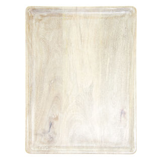Picture of Mango Wood Rectangular Serving Board White 360 x 180