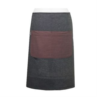 Picture of Canvas Eyelet Long Waist Apron Grey 70 x 60cm