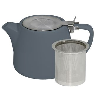Picture of Brew Steel Blue Stackable Teapot 600ml with SS Infuser and Lid