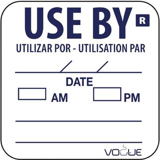 Picture of Vogue Removable Use By Labels
