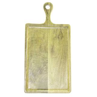 Picture of Mango Wood Serving Board Rectangular w/HDL 300x400x200mm LIME