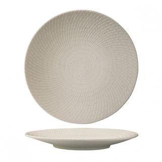Picture of Luzerne Zen White Swirl Round Coupe Plate 235mm