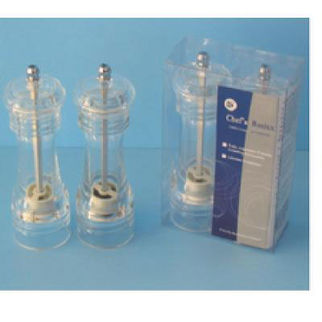 Picture of Acrylic Salt And Pepper Grinders 15cm