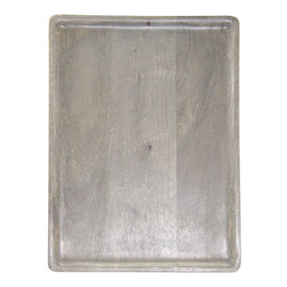 Picture of Mango Wood Serving Board Rectangular Grey 350 x 255mm