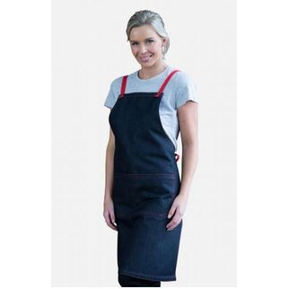 Picture of Archie Denim Bib Apron w Red Tie 70 x 86cm