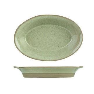 Picture of Art De Cuisine Igneous Oval Serving Bowl 180mm