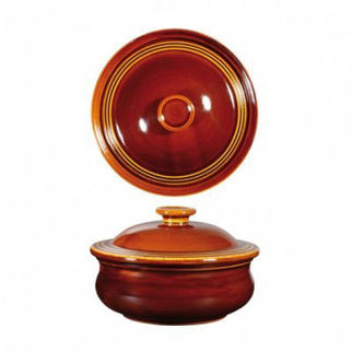 Picture of Art De Cuisine Rustics Casserole With Cover 140mm Rustics Brown