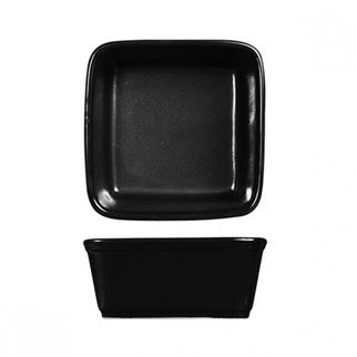 Picture of Art De Cuisine Rustics Square Tapas Dish Black