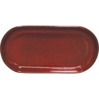 Picture of Artistica Oval Coupe Plate Reactive Red