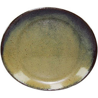 Picture of Artistica Oval Plate 250 X 220mm Reactive Brown