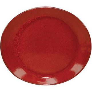 Picture of Artistica Oval Plate 250x 220mm Reactive Red